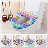 VHLL 2017 Bathroom Toilet Seat Washable Soft Warmer Mat Cover Pad Cushion Hot