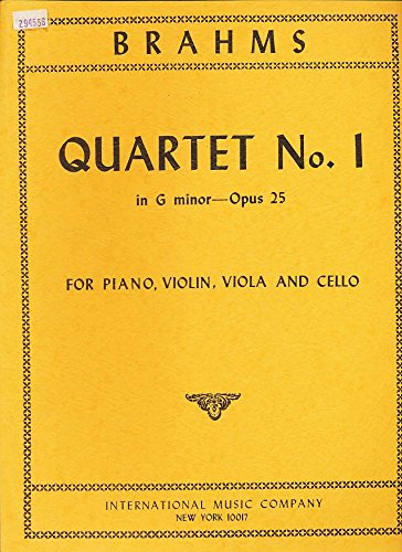 inor--Opus 25 for Piano, Violin, Viola and Cello (Cello Quartet Music)