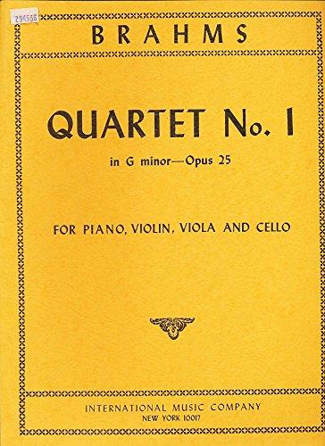 inor--Opus 25 for Piano, Violin, Viola and Cello (Cello Quartet Music)