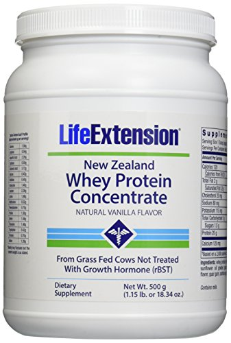 Life Extension New Zealand Whey Protein, Natural Vanilla, 500 Gram