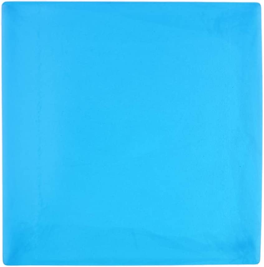 Blue H HILABEE 25x25x2cm 9.84x9.84x0.78 inch Cooling Gel Pad Seat Cushion for Motorcycle