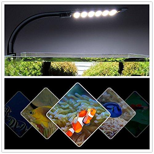 DSstyles - Lámpara LED para acuario, diseño de tortuga de peces, iluminación de tanque, X3 Mini Full White Light
