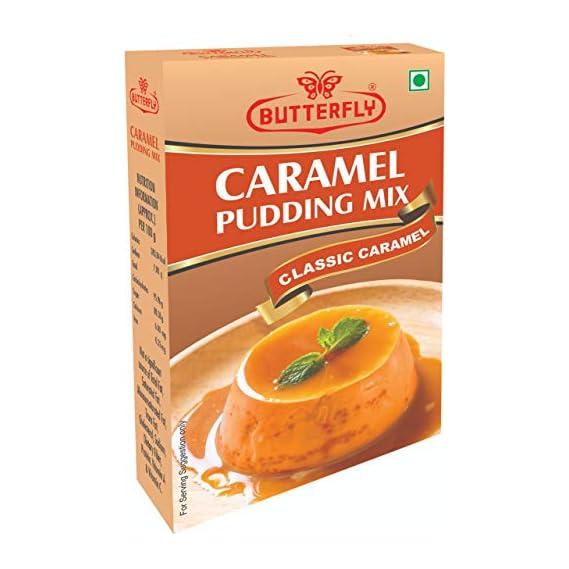 Butterfly Instant Caramel Pudding Mix, Caramel, 100g