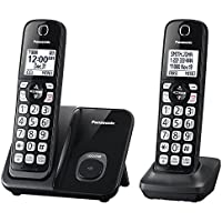 Cordless Telephones, Black Panasonic Expandable 2-handset Landline Telephones
