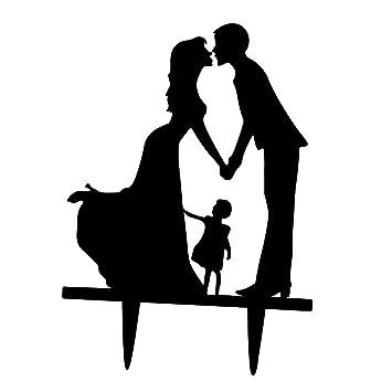Prettyia Kuchenaufsatze Brautpaar Als Tortendeko Kuchendekoration