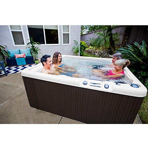 Hot Tub with 28 Hydrotherapy Jets Including 2 Calf Jets, 5-Person Spa, 315 Gallon Capacity and Easy Maintenance
