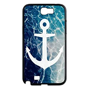 Holiday Gifts M-01 Sea Anchor Black Print With Hard Shell Case for Samsung Galaxy Note 2 N7100
