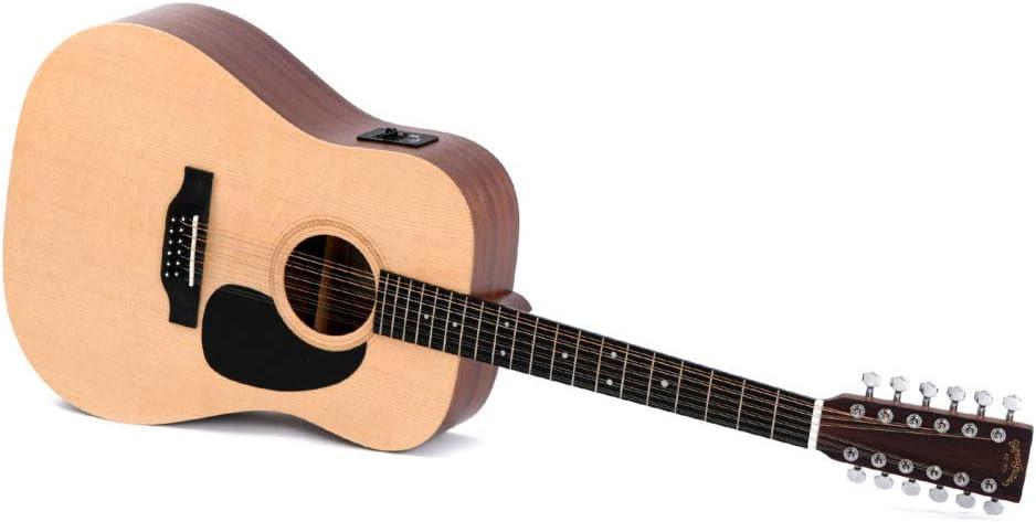Guitarra Acústica/Electroacústica Sigma DM12 E+: Amazon.es ...