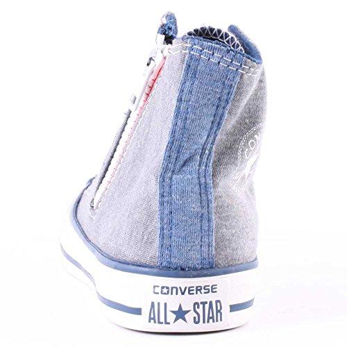Converse Chuck Taylor Side Cremallera Bar & STARS , Niños Unisex Zapatillas gris
