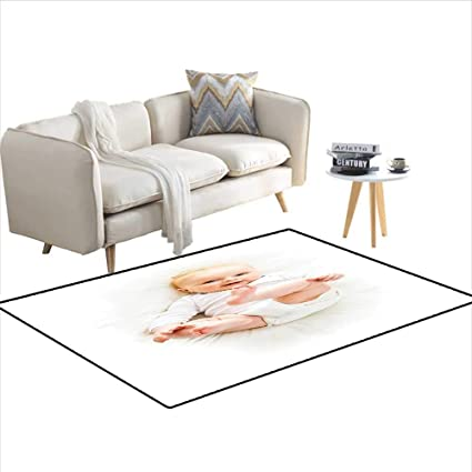 Amazon.com: Rug, Beautiful Baby with Her Feet Up Caucasian ...