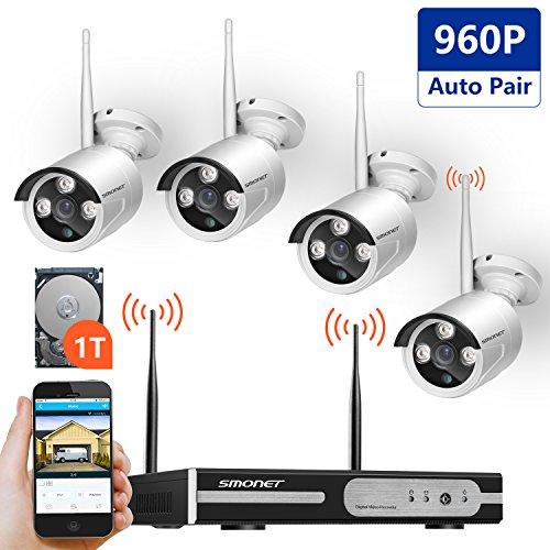 Wireless Video Security System,SMONET 4CH 1080P Wireless ...