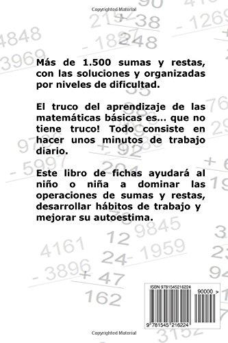 Libro de Fichas - Sumas y Restas - Nivel III: Para niños y niñas de 8-9 años 3º Primaria : Volume 3 - 9781545216224: Amazon.es: Carlos Arribas: Libros