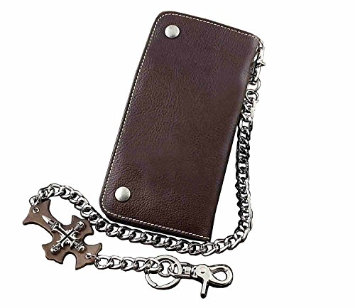 New Fashion Hip Hop Real Leather Long Chain Wallet For Mens Or Boys by Threecattles