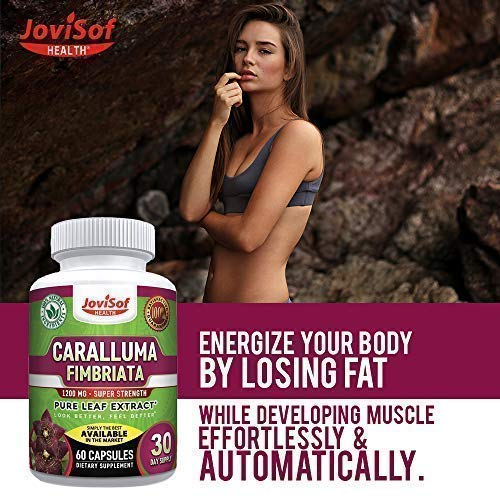 Strongest Caralluma Fimbriata Extract 1200 mg. 3 Pack! Appetite Suppressant Weight Loss Pills Best Proven Fat Burner and Carb Blocker. Will Help You Lose Weight Fasy