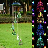 Cheap Christmas Tree Solar LED Light Wind Chime Décor Lighting
