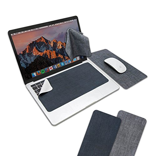 SenseAGE (2PCS/Set) 3 in 1 Mouse Pad, Portable & Reusable Microfiber Screen Cleaning Cloth, Keyboard Protector, Washable Mousepad, Ultra-Thin Mouse Pad for Laptop (285×150×0.65mm) - My Jeans Series ()