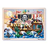 Melissa & Doug Deluxe Wooden 48-Piece Jigsaw Puzzle – Pirates thumbnail