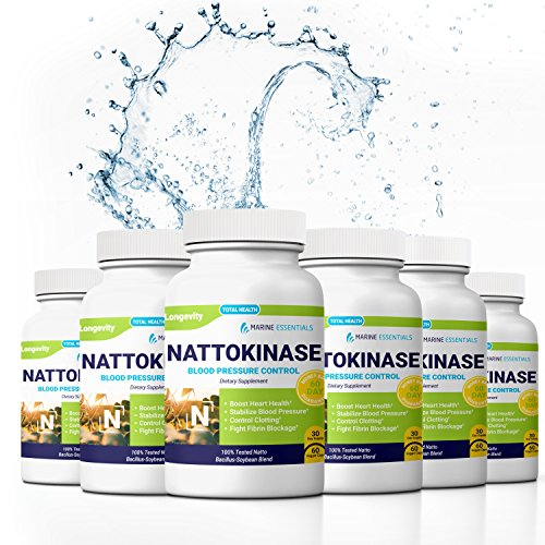 Marine Essentials Nattokinase Dietary Supplement - 100mg Vegan Formula Nattokinase Supplements for Heart Health and Circulation (360 Veg Capsules)