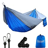 Take a break, relax and enjoy the great outdoors in a fashionable way. Hung up Double Camping Hammock in your courtyard, in the garden or on your next backpacking trip for a comfortable set up. Weighting under 25 onces they are great for hiking and c...