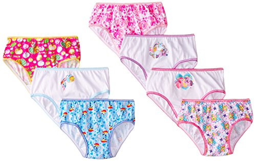 Handcraft Little Girls'  My Little Pony  Panty (Pack of 7), Multi, 4 (My Little Pony Princess Mi Amore Cadenza)