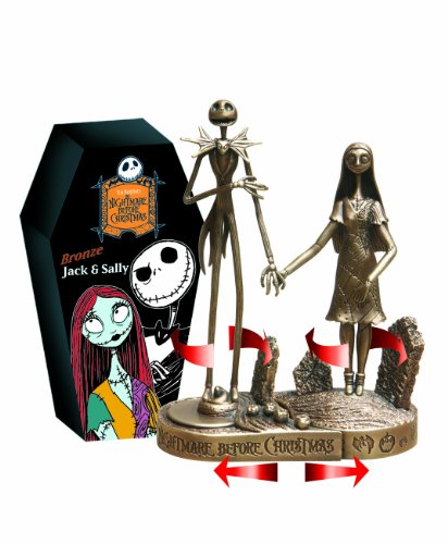 Disney Jack and Sally Bronze Paperweight
