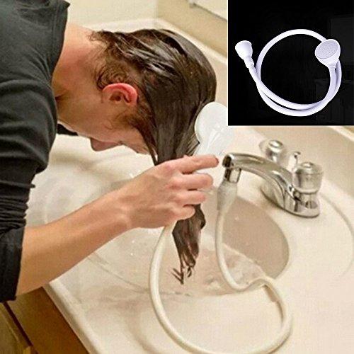 Gaddrt Bath Shower Head Spray, Single Wide Tap Bath Sink Hose Push On Mixer...