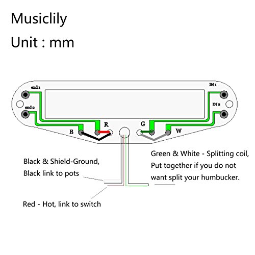 51JNcA1JcHL amazon com musiclily dual hot rail blaster humbucker humbucking