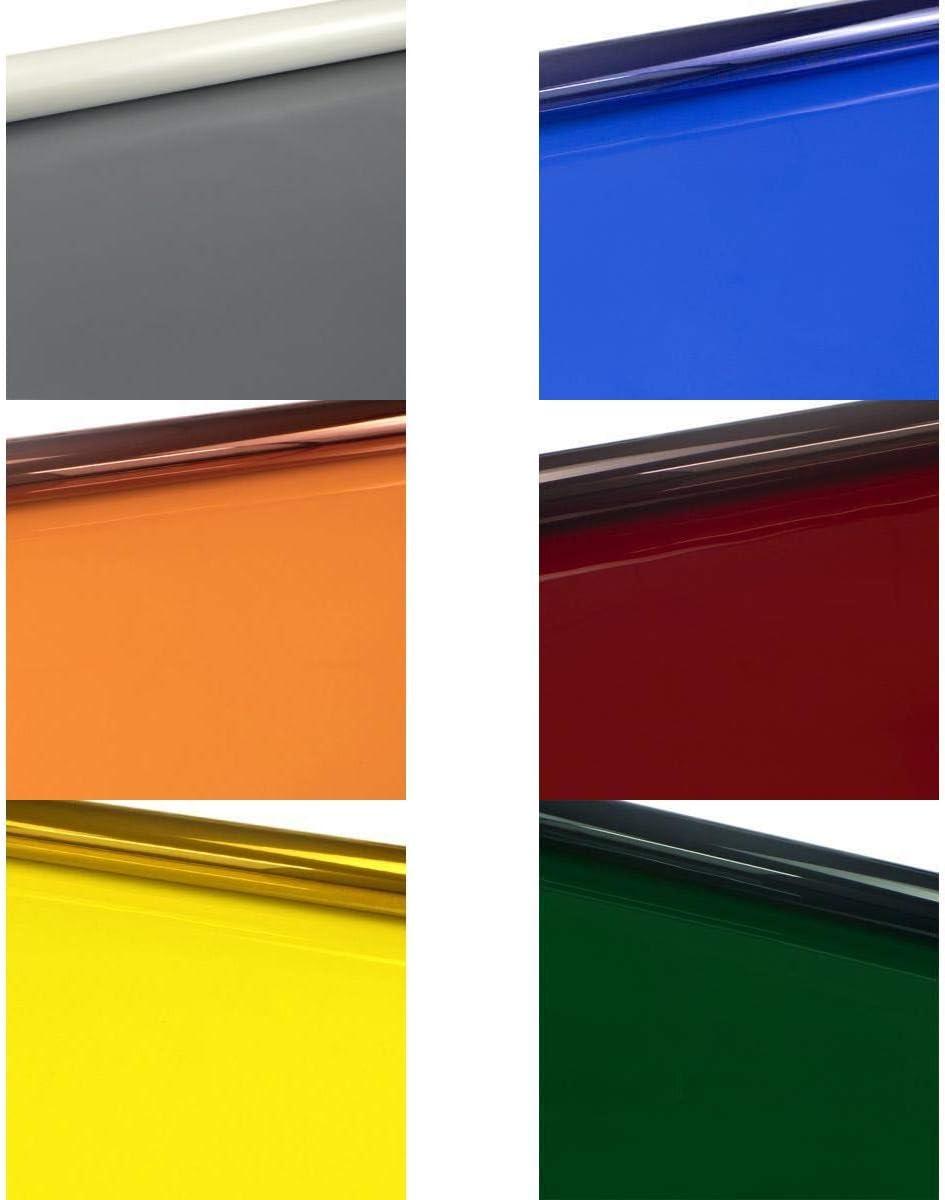 Almencla 6er Pack Farbfolien 40 x 50 cm Farbfilter Farbfolie Farbenkorrektur Beleuchtungs Gel Filter f/ür Lichter in Film- Foto- B/ühnen Video-