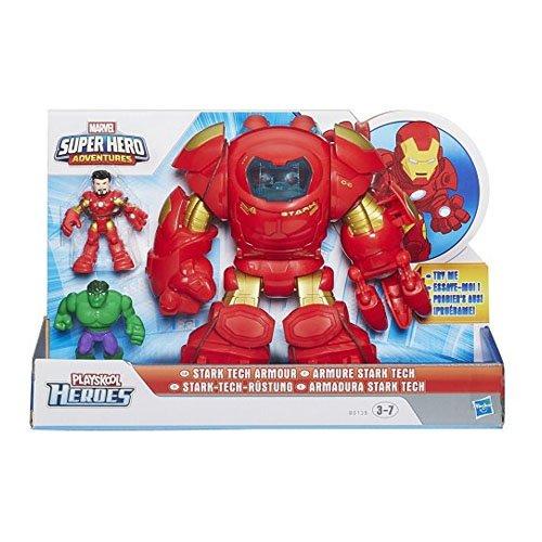 Marvel Super Hero Adventure Playskool Tech Armor With Tony Stark Figure