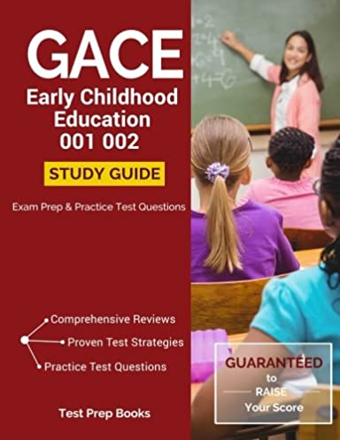 gace early childhood education 001 002 study guide exam prep and rh amazon com gace test prep early childhood education Early Childhood Education Logo