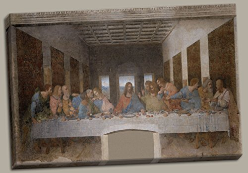 The Last Supper by Leonardo Davinci, Hand-Stretched 12x18in Canvas