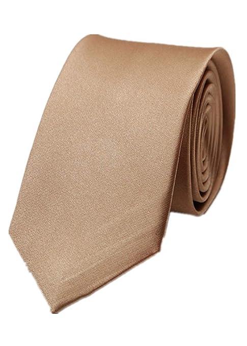 MINMINA Slim Mens Wedding Solid Solid Plain Corbata, Color Tie ...