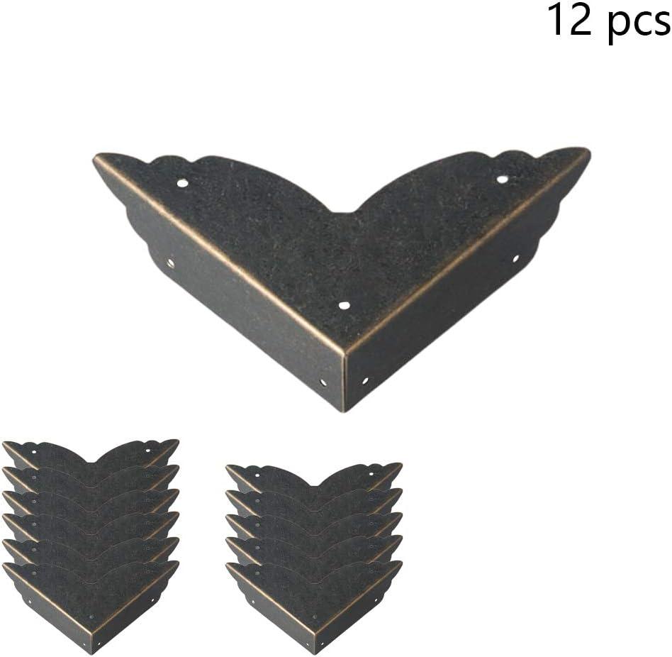 vap26 12pcs Garde de Coin Antique en m/étal Pratique de Protecteur de Bord de bo/îte de Meubles de Cabinet