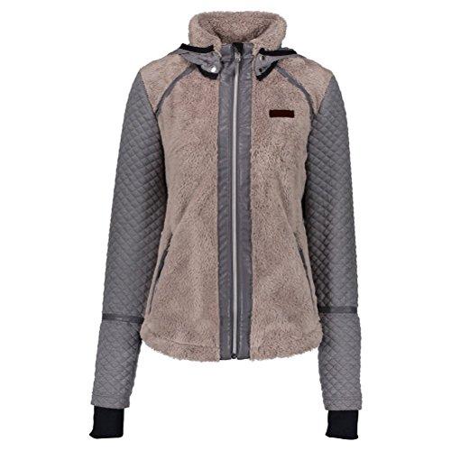 Obermeyer 17035 Women's Stella Fleece Jacket, Cashmere - Large (Jacket Track Cashmere)