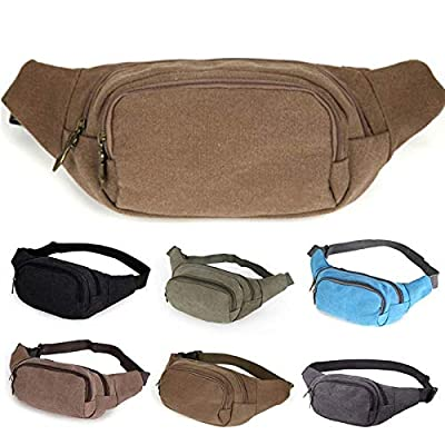 Culturemart Men Women Casual Functional Military Bag Waist Bag Pack Canvas Money Travel Mobile Phone Belt Bag for Men Women