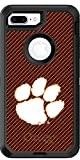 Clemson - Carbon Fiber design on Black OtterBox Defender for iPhone 8 Plus