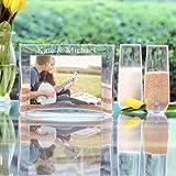 Personalized Wedding Unity Sand Ceremony Keepsake Photo Vase Set