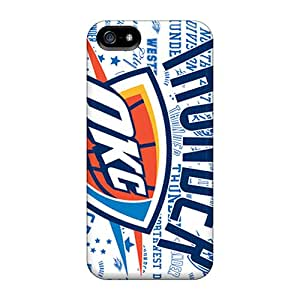 GRleal Case Cover For Iphone 5/5s - Retailer Packaging Oklahoma City Thunder Protective Case