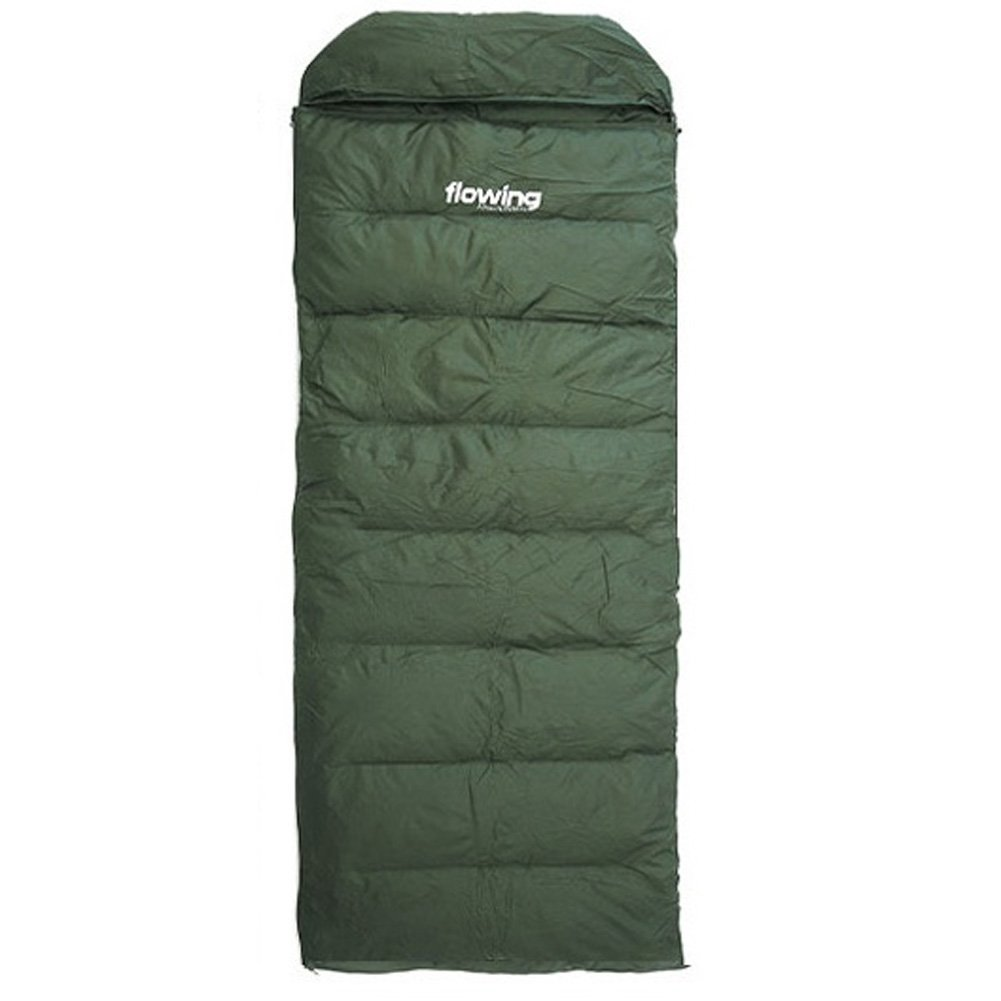 U.S.A FLOWING Goose Feather Down 100% Sleeping Bag with Durable 190T Poly shell アメリカのフローティンググースフェザーダウン耐久性190Tポリシェル100%スリーピングバッグ [並行輸入] B06XSFRC5Z Khaki  Khaki