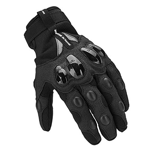 AINIYF Tactical Gloves | Motorcycle Cycling Rider Knight Four Seasons Anti-falling Breathable Non-Finger Full Finger Motorcycle Gloves Touchable (Color : Black, Size : M) by AINIYF (Image #5)