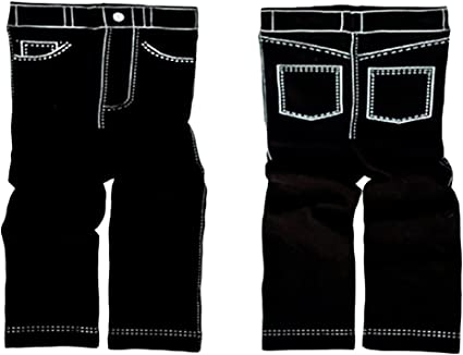 2 yrs cute gift New Trumpette BLACK LEGGINGS JEANS-LOOK  Fits MOST 6 mos
