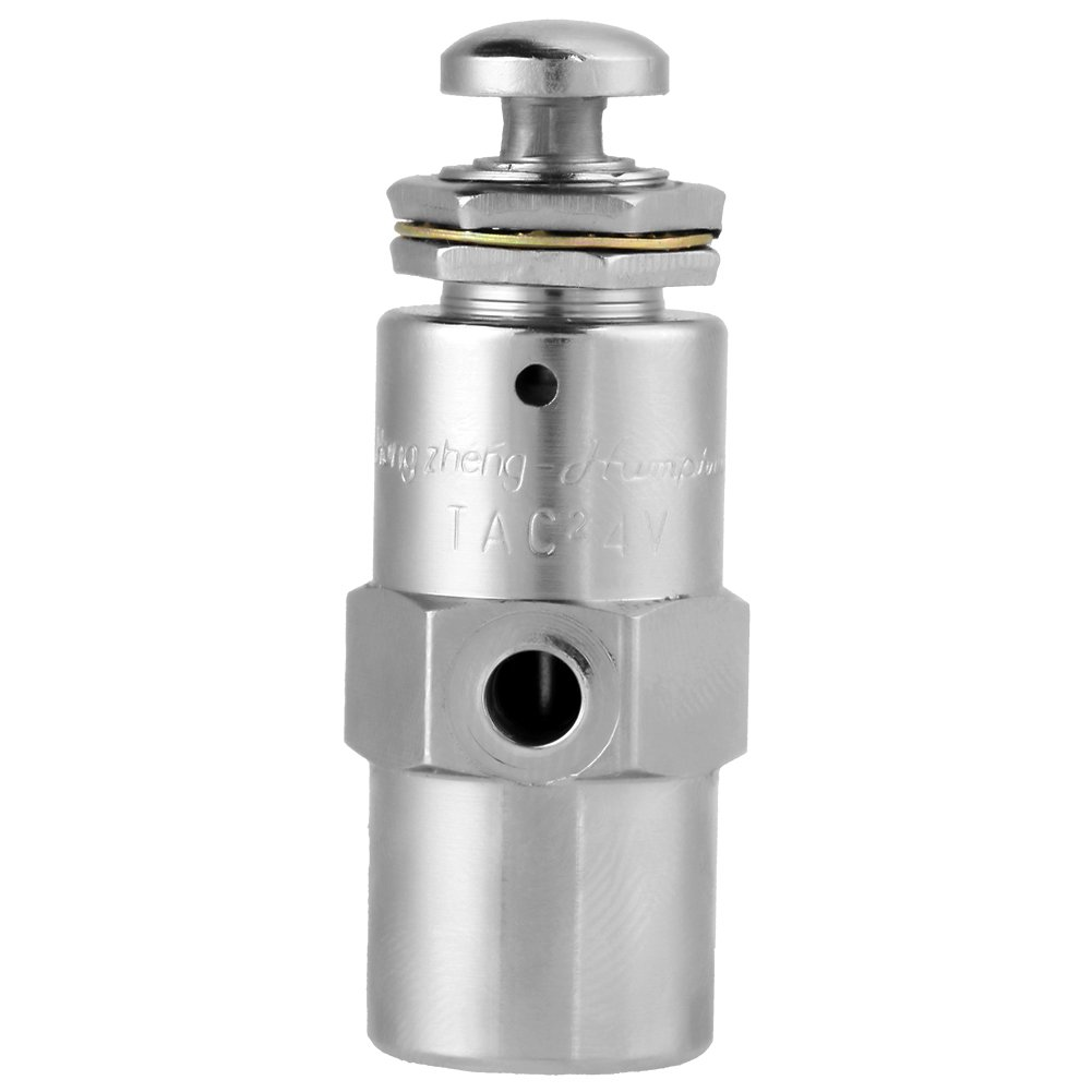 TAC2-4P Toggle Valve 2 Position 5 Way Air Pneumatic Knob Control ON/OFF Toggle Valve (5 x 1.7cm)