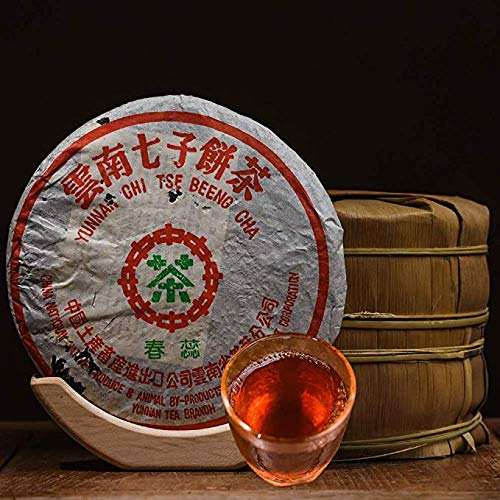 In 2003, the tea green printing special edition [Chunrui] Laosheng tea [fifty years of Chen Fang conversion] taste is very unique [Yunnan seven son cake tea] 2003 pressed old tea first class 2.5kg 357 by NanJie (Image #5)