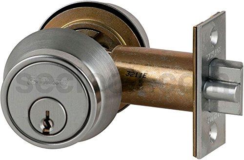 (Schlage B252PD-626 Grade 2 Deadlatch-Double Cylinder, 626 - Satin Chrome, 2-3/8