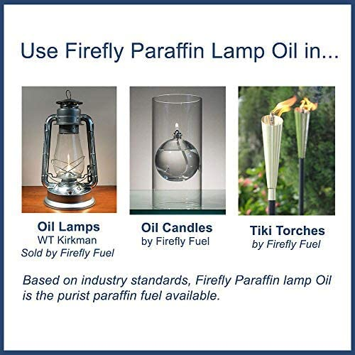Firefly Candle and Lamp Oil – Smokeless Odorless Base – Eucalyptus Scent – Ultra Clean Burning – Liquid Paraffin Fuel – Highest Purity Available – Bulk 5-Gallon Container