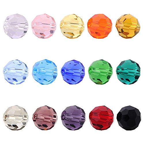 Sapphire Faceted Briolette Bead - BEADNOVA 8mm Briolette Faceted Rondelle Crystal Glass Beads For Jewelry Making DIY Craft Beads Bracelet Wholesale Mix lot 300pcs