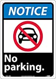 National Marker Corp. NGA19RB Notice, No Parking Sign, 14 Inch X 10 Inch, Rigid Plastic