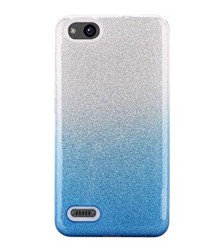 FastSun 2 Tone Flexi TPU Case Phone Cover for ZTE ZFive G C Z557BL Z558VL  (Blue)
