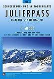 Julierpass Skirouten 1:50'000 St. Moritz-Piz Bernina-Juf