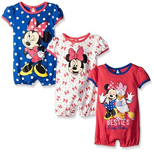 Disney Baby Girls Minnie Rompers